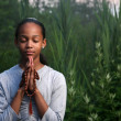Teenage girl praying  — Stock Photo