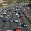 Traffic on the Hollywood 101 freeway — Stock Photo