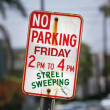 No parking street sign — Foto de Stock