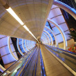 Tunnel with moving sidewalk. — Stock Photo