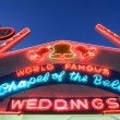 Stock Photo: Neon Wedding Chapel Sign in Las Vegas