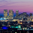 Los Angeles skyline at dusk — Stock Photo