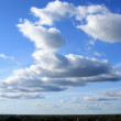 Beautiful clouds on blue sky — Stock Photo