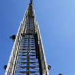 Fire ladder extended high with fireman — Stock Photo #32909829