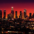 skyline de Los angeles dans la nuit — Photo
