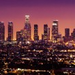 Los Angeles skyline at night — Stock Photo