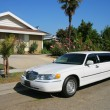 Stock Photo: White limousine