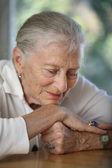 Senior woman contemplating — Stock Photo