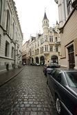 Old Riga street, Latvia. — Stock Photo