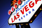 Gros plan signe de Las vegas. — Photo