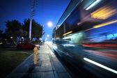高速バス、ぼやけて運動 — ストック写真
