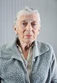 Senior woman indoors. — Stock Photo
