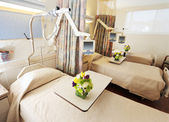 Room with beds in hospital — Stock Photo
