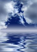 Scenic clouds over water. — Stock Photo