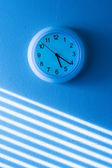 Blue wall clock — Stock Photo