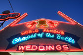 Neon Wedding Chapel Sign in Las Vegas — Stock Photo