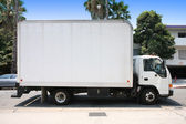 White delivery truck — Stock Photo