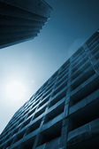 Urban parking structures rising high to the sky. — Stock Photo
