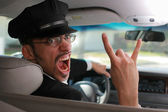 Mad chauffeur. — Stock Photo