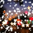 Blurred background with star-shaped highlights. — Stock Photo