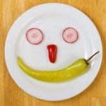 Fresh Food Smiley — Stock Photo