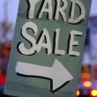 Handmade Yard Sale Sign — Stock Photo