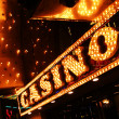Neon casino sign — Stock Photo
