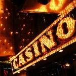Neon casino sign — Stock Photo