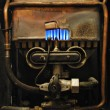 Foto Stock: Vintage gas heater