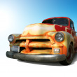 Funky Vintage American Truck — Stock Photo