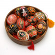 Ukrainian hand painted Easter eggs — Stock Photo