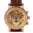 Foto Stock: Golden watch mechanism