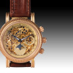 Golden watch mechanism — Stock Photo