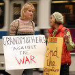 Grandmothers against the war — Stock Photo