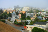 Quiet foggy morning in San Francisco — Stock Photo