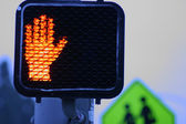 Stop signal at dusk. — Stock Photo