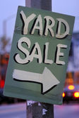 Handmade Yard Sale Sign — Stock Photo