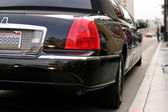 Limousine at the Walk of Fame — Stock Photo