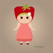 Miss Strawberry — Stock Vector