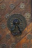 ライオンが付いているドア装飾 — ストック写真