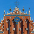 Fragment of the House of Blackheads in Riga. — Stock Photo