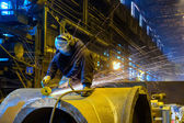 Worker handles detail — Stock Photo