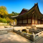 Park of Changgyeonggung Palace, Seoul, South Korea — Stock Photo