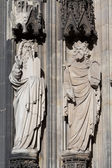 Sculpture Cologne Cathedral — Stock Photo