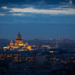 The top view on the night city of St.-Petersburg — Stock Photo #48547179