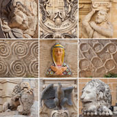 Сollection of sculptural images in Malta — Stock Photo