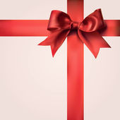 Red Gift Ribbons with Bow — Stock Photo