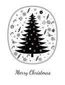 Merry Christmas greeting card on white — Stock Vector
