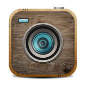 Vintage wood camera — Stock Photo