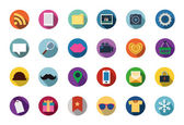 Trendy Vector Flat Icons With Long Shadow — Stok Vektör